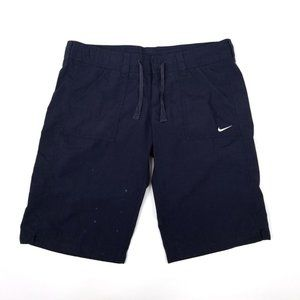 Nike | Navy Blue Nautical Swim Bermuda Shorts M